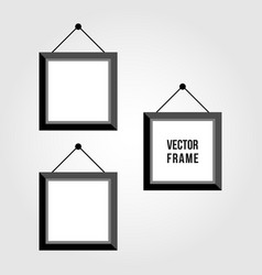 monochrome picture or photo frames vector image