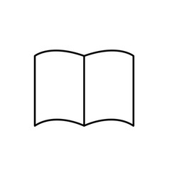 opened linear book icon vector image vector image