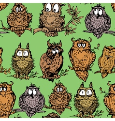 owl seamless 1 380 vector image vector image