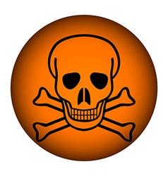 Poison sign button vector