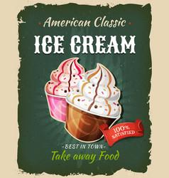 retro fast food ice cream poster vector image