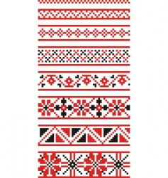 Russian national ornaments vector image vector image