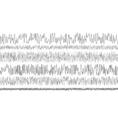 set seismic waves oscillation earthquake vector image vector image