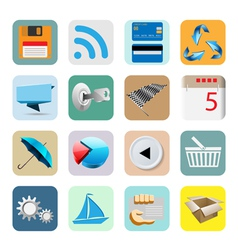 smart phone icons vector image