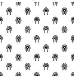 Tutankhamen mask pattern vector