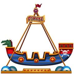 Viking ride in carnival vector