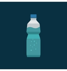 Water bottle plastic isolated on dark vector image vector image