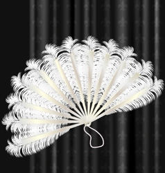 white feathers fan vector image
