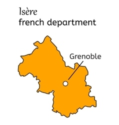 Isere french department map vector