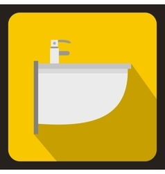 Bidet icon in flat style vector