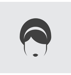 Hairstyle icon icon vector