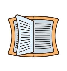 drawing book read learning school vector image