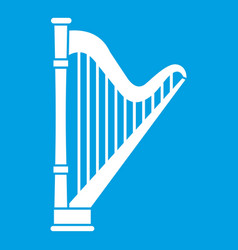 Harp icon white vector