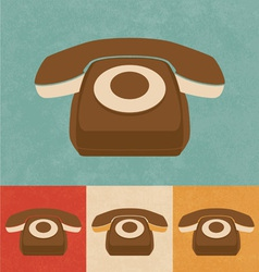 Retro phone icon vector