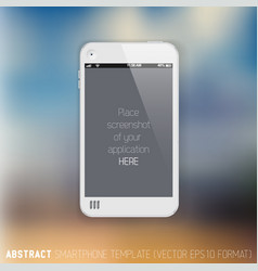 Abstract white mobile phone template vector