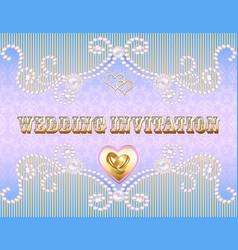 A wedding invitation card for a wedding with a vector