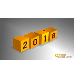 2018 PF Cubes vector image vector image