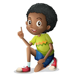 A cute young Black man vector image
