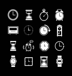 Set icons of clock vector