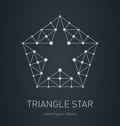 Star logo modern stylish design element with vector