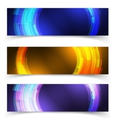Abstract blue colorful website header or banner vector