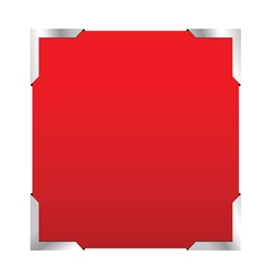 Photo frame red color vector
