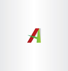 Red green letter a logotype sign element vector