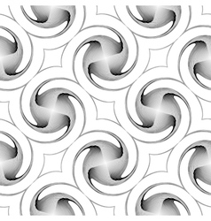 Design seamless monochrome twirl backgroud vector