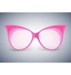 Facet sunglasses pink vector