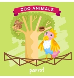 Zoo animal parrot vector