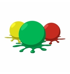 Paintball balls with splashes icon vector