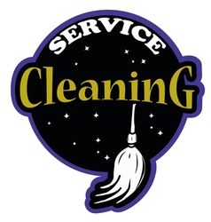 Cleaning service logo professional vector