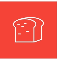 Half of bread line icon vector