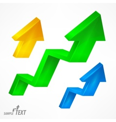 Arrow up color signs on white vector