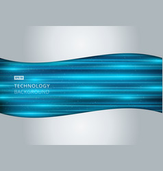 abstract technology light blue laser horizontal vector image vector image