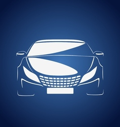 Auto in blue vector image vector image