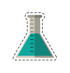 cartoon laboratory test tube chemistry vector image
