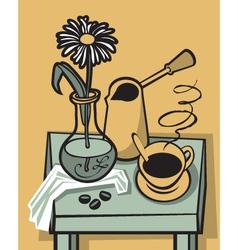 Coffee still life vector