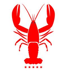 Craw fish icon color fill style vector