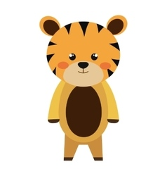 cute little tigger animal character vector image vector image