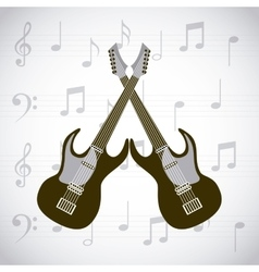 electric guitars icons vector image vector image