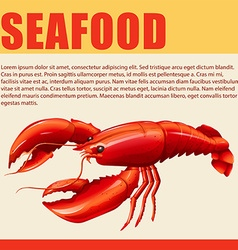 Food sign with seafood and text vector