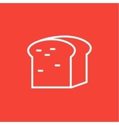 Half of bread line icon vector