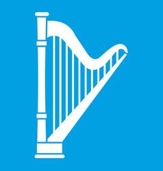 harp icon white vector image