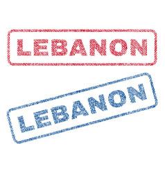 lebanon textile stamps vector image