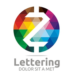 lettering z rainbow alphabet icon vector image vector image