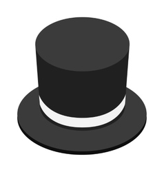 Magic black hat isometric 3d icon vector image