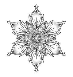mandala vintage decorative elements vector image vector image