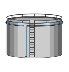 oil storage tankoil single icon in cartoon style vector image