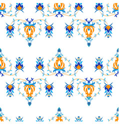 Oriental pattern with arabesque and floral vector